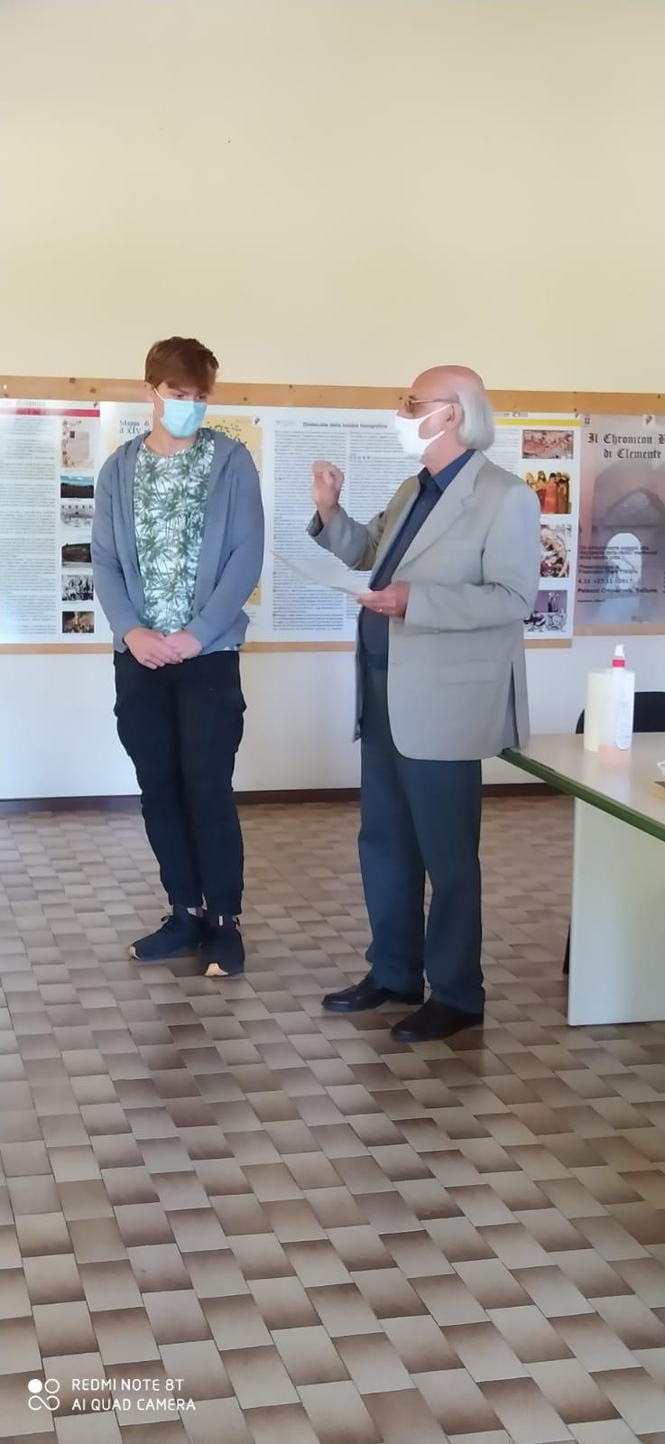 il vincitore nicola canal ed il vice presidente ex allievi dino bridda