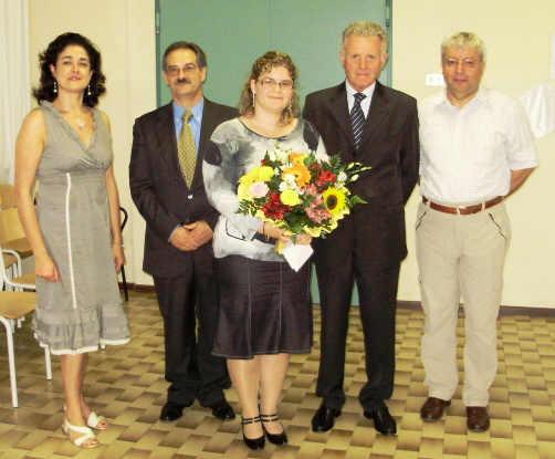 La premiata con alcuni ex allievi soci della ns. associazione presenti alla cerimonia